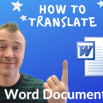 how to translate word document