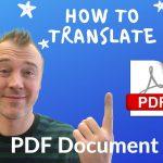 how to translate pdf document