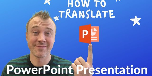 how to translate powerpoint