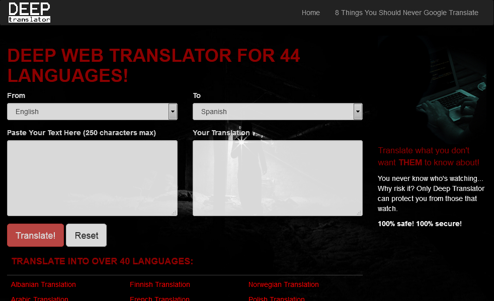 Deep Translator screen shot