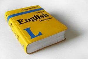English dictionary.