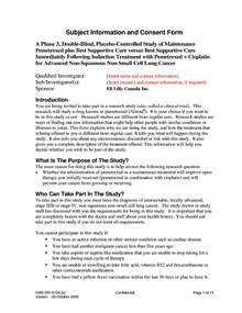 Sample informed consent document