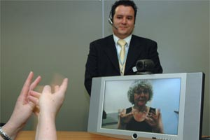 Medical interpreter video service.