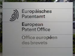 European Patent Office sign